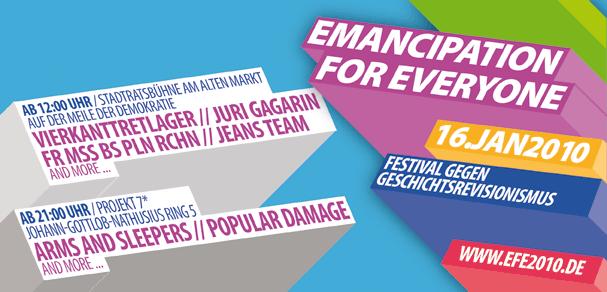 Emancipation for Everyone Festival 16. Januar 2010 Magdeburg